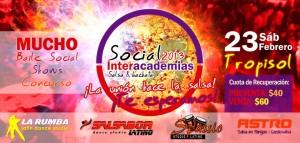 Interacademias de Salsa en Merida Social 2013