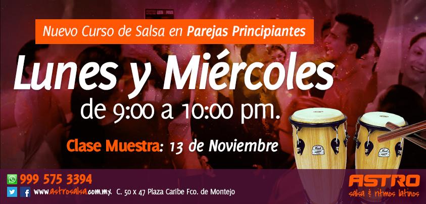 Clase de salsa en Merida Nuevo Curso Principiante Nov 2013